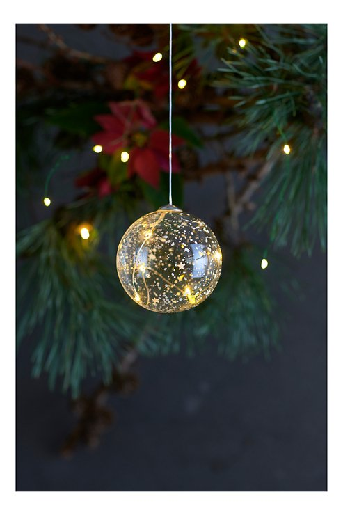 Sirius Leuchtkugel Romantic Ball batteriebetrieben 5 LED 8cm klar - Pic 1