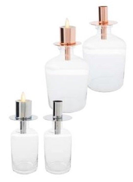 Sompex Flaschenkerzenhalter PANE chrom 7,5 x 8,25cm für Flame Teelicht - Pic 1