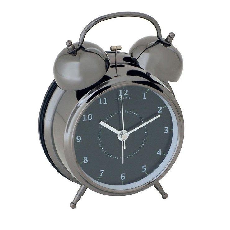 NeXtime Wecker Wake Up 12,5cm Metall schwarz - Pic 1