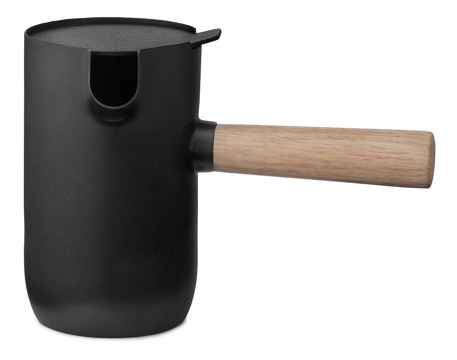 Stelton Milchkännchen Collar Edelstahl 500ml schwarz - Pic 1