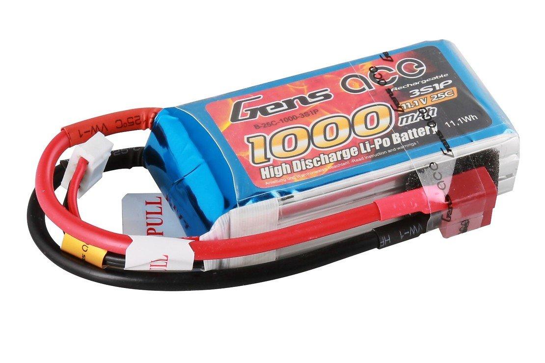 GensAce Batterie LiPo Akku 1000mAh 11.1V 25C 3S1P - Pic 1