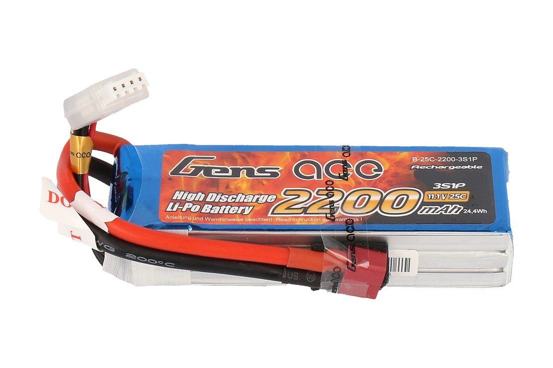 GensAce Batterie LiPo Akku 2200mAh 3S1P 25C - Pic 1