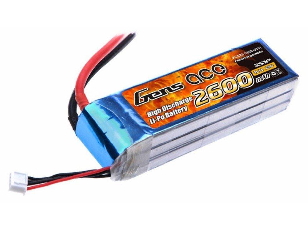 GensAce Batterie LiPo Akku 2600mAh 11.1V 25C 3S1P - Pic 1