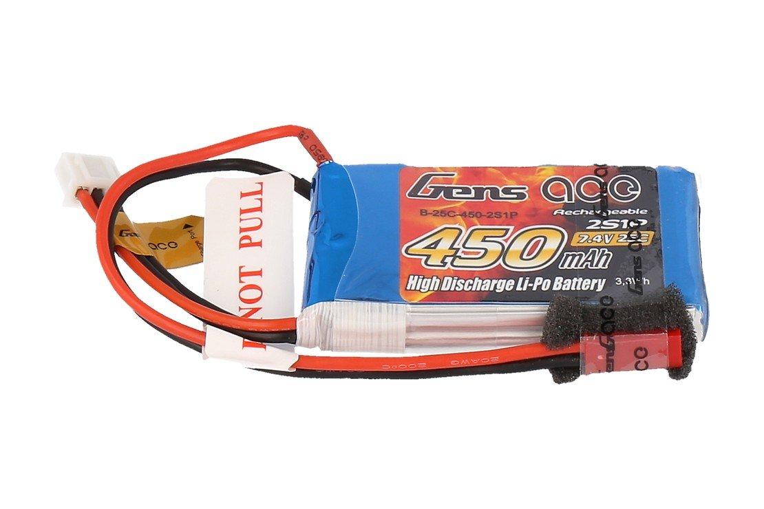 GensAce Batterie LiPo Akku 450mAh 2S1P 25C - Pic 1