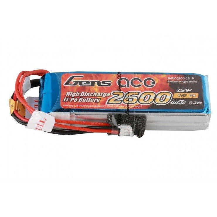 GensAce Batterie LiPo Akku 2600mAh 2S1P für Taranis V2019 - Pic 1