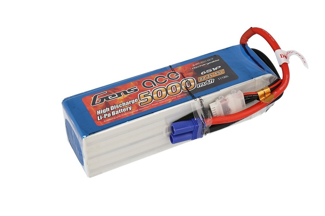 GensaAce Batterie LiPo Akku 5000mAh 22,2V 45C 6S1P - Pic 1