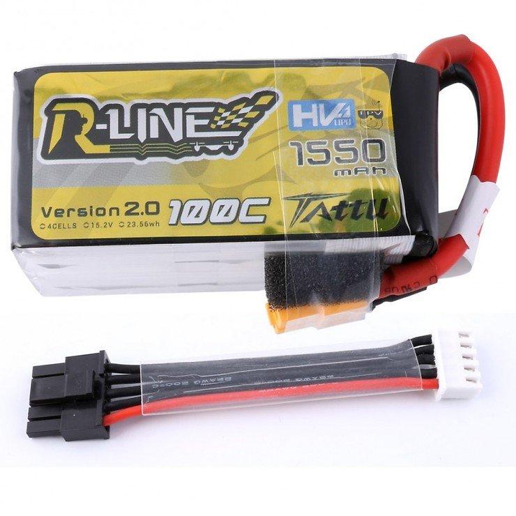 Tattu R-Line Batterie LiPo Akku 1550mAh 100C 4S1P - Pic 1