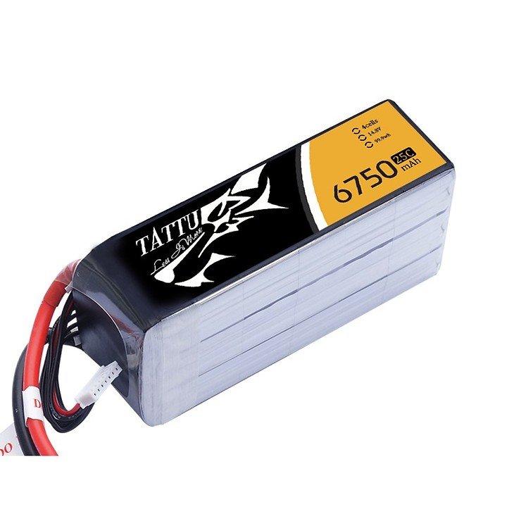 Tattu Batterie LiPo Akku 6750mAh 14.8V 25C 4S1P - Pic 1