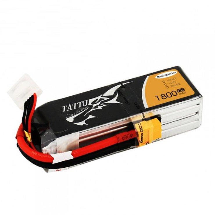 Tattu Batterie LiPo Akku RACE 1800mAh 4S1P 75C - Pic 1