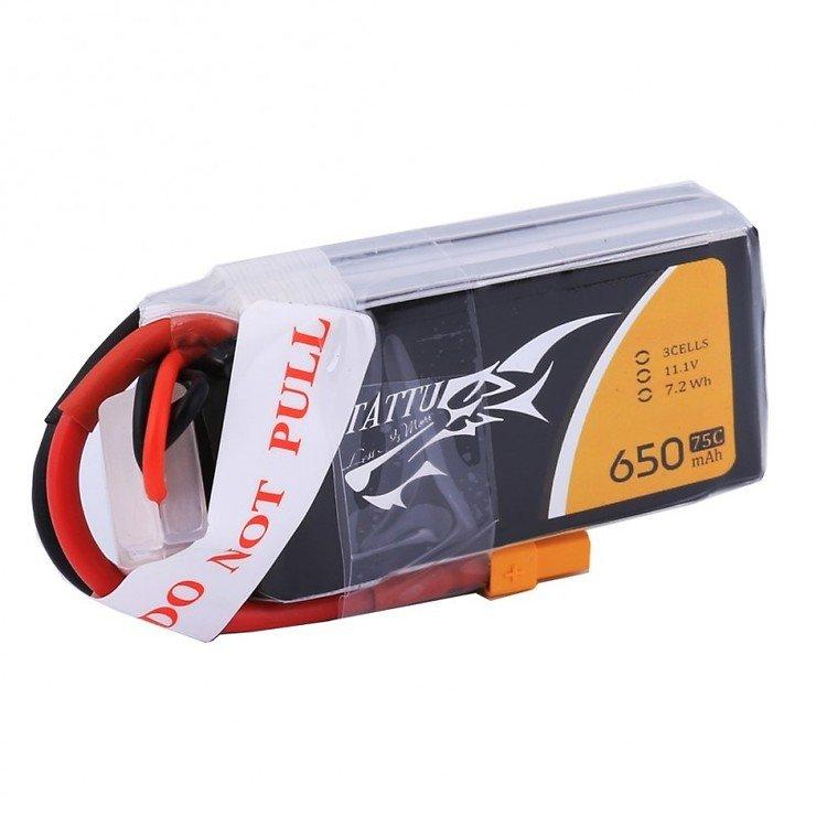 Tattu LiPo 650mAh 3S1P 75C 11.1V Akku Batterie - Pic 1