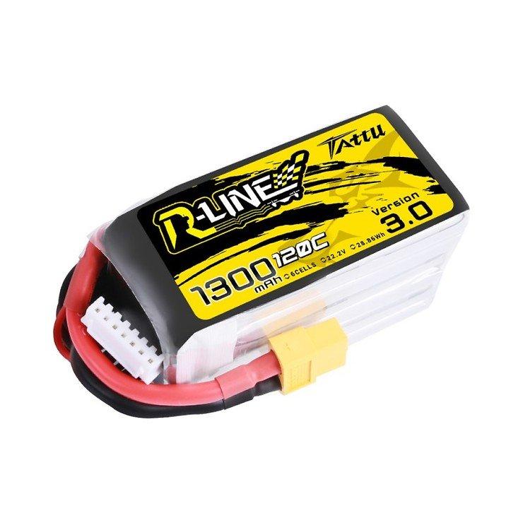 Tattu R-Line V3 Batterie LiPo Akku 1300 mAh 6S1P 120C XT60 - Pic 1