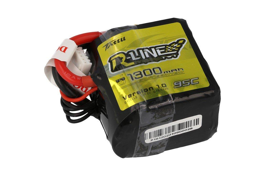 Tattu R-Line Batterie LiPo Akku 1300mAh 95C 4S1P Square - Pic 1