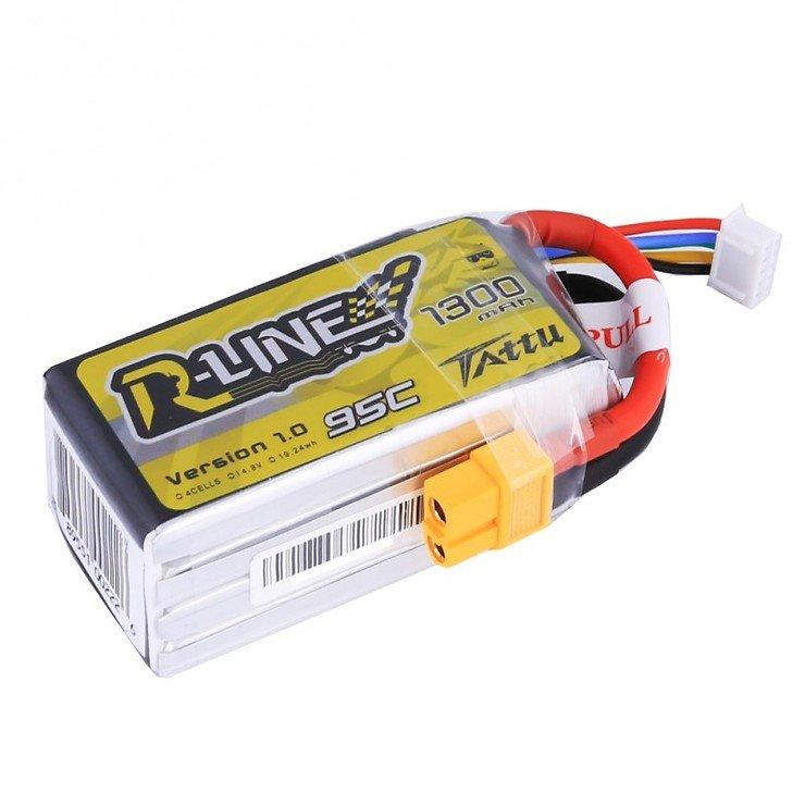 Tattu R-Line Batterie LiPo Akku 1300mAh 95C 4S1P - Pic 1