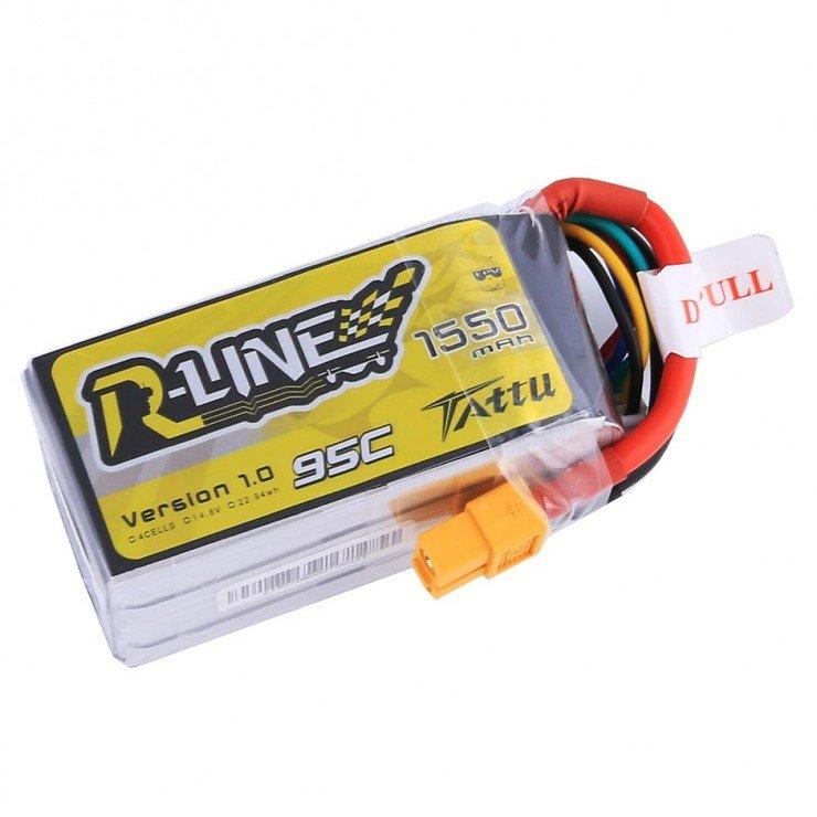 Tattu R-Line Batterie LiPo Akku 1550mAh 95C 4S1P - Pic 1