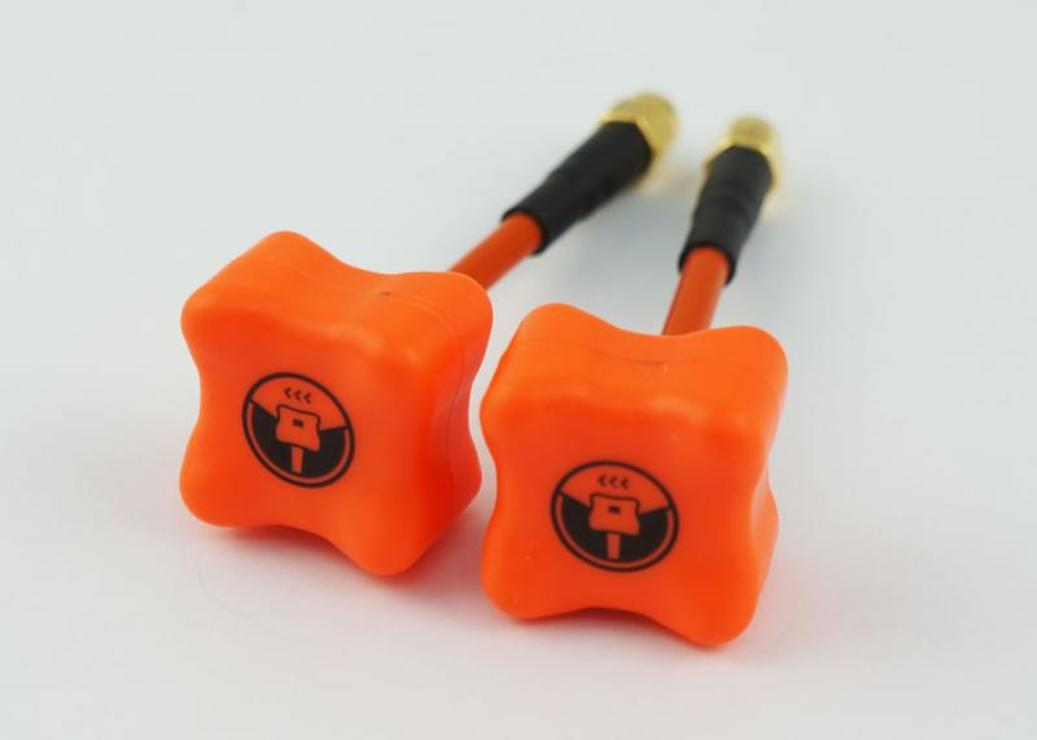 TBS Antenne Triumph 2er Set in orange LHCP RP-SMA - Pic 1