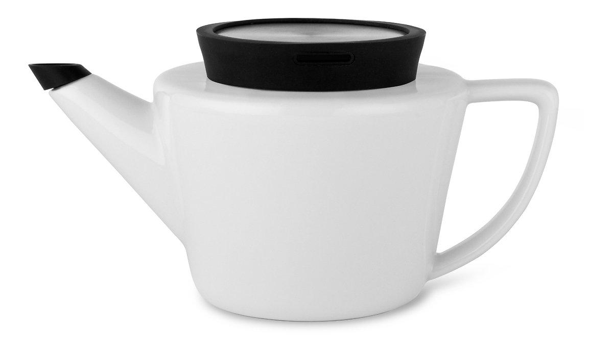 Viva Scandinavia Teekanne Infusion 0,5 l Porzellan Silikon schwarz - Pic 1
